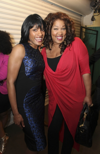 Cast member Alicia Hall Moran and actress Kym E. Whitley