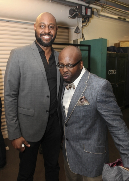 Cast members Alvin Crawford and James Earl Jones II Photo