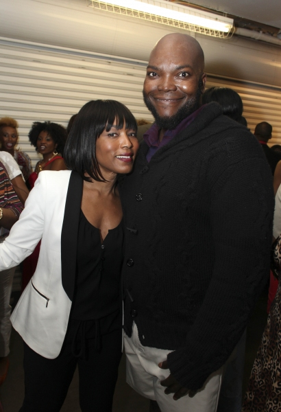Actress Angela Bassett and cast member Dwelvan David