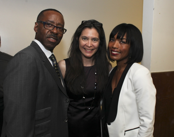 Actor Courtney B. Vance, Director Diane Paulus and actress Angela Bassett Photo