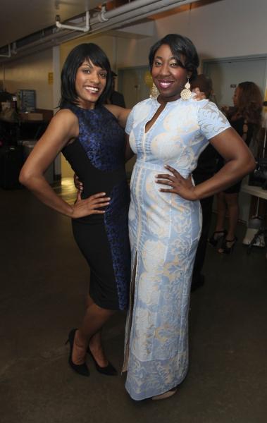 Cast members Alicia Hall Moran and Denisha Ballew