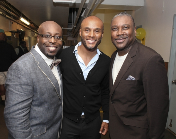 Cast member James Earl Jones II, musician Kenny Lattimore and cast member Kingsley Leggs