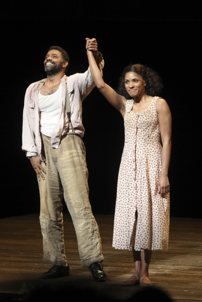 Cast members Nathaniel Stampley and Alicia Hall Moran
