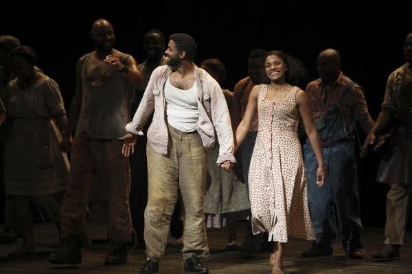Cast members Nathaniel Stampley and Alicia Hall Moran Photo