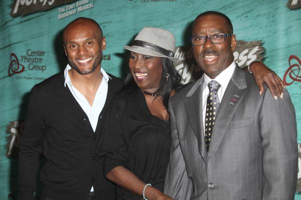 Musician Kenny Lattimore, actress Kiki Shepard and actor Courtney B. Vance