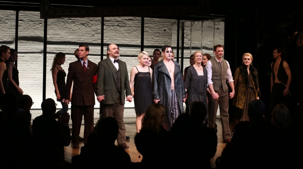 Aaron Krohn, Danny Burstein, Michelle Williams, Alan Cumming, Linda Emond, Bill Heck and Gayle Rankin