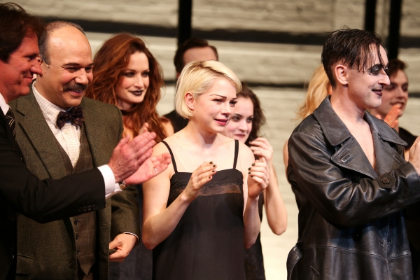 Rob Marshall, Danny Burstein, Michelle Williams and Alan Cumming