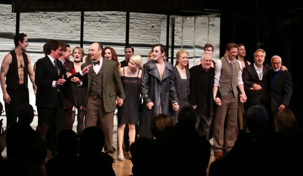 Rob Marshell, Aaron Krohn, Danny Burstein, Michelle Williams, , Alan Cumming, Linda Emond, John Kander, Bill Heck, Gayle Rankin, Sam Mendes and Joe Masteroff