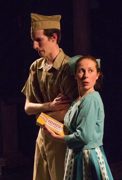 Tori Abram-Copenhaver as Lynn McCarthy & Daniel Grey as James Appel Photo