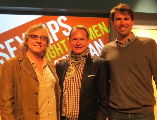 Producer Shawn Nightingale, Carson Kressley and playwright/producer Matt Murphy