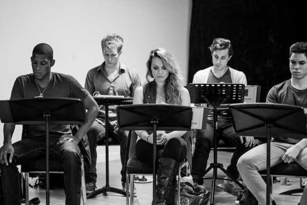 Photo Flash: In Rehearsal with ANTHEM's Jason Gotay, Remy Zaken, Randy Jones and More Off-Broadway