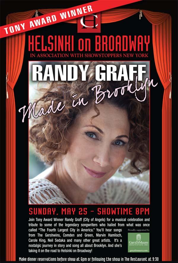 Randy Graff Brings MADE IN BROOKLYN To Club Helsinki, 5/25