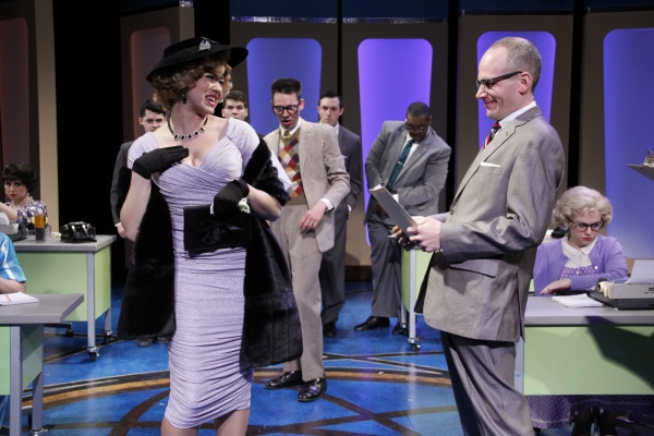 Emily Ariel Rogers as Hedy La Rue and Jason Grimm as Mr. Bratt