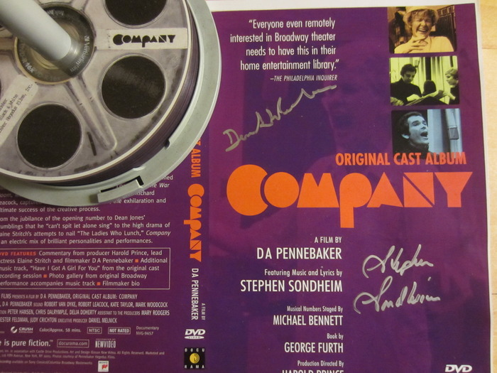 Sondheim-Signed COMPANY Doc DVD Among Incentives For New Pennebaker Kickstarter