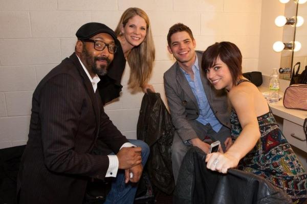Jesse L. MARTIN, Kelli O'Hara, Jeremy Jordan and Krysta Rodriguez