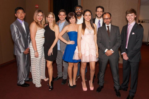 Jeremy Jordan, Krysta Rodriguez Kelli O'Hara, Jesse L. Martin, Fisher Stevens, with the SAY teens