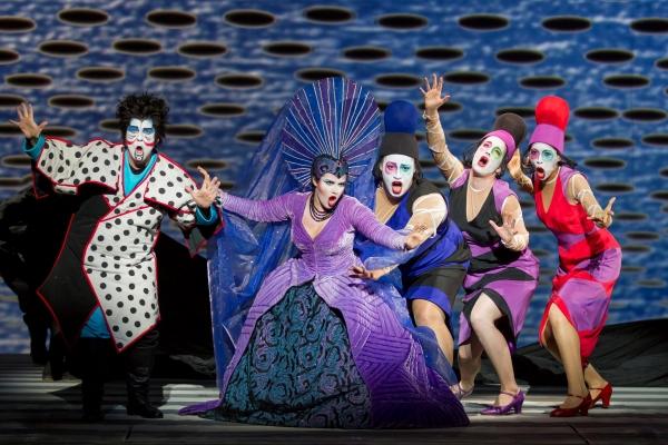 John Easterlin as Monostatos, Kathryn Lewek as the Queen of the Night, Deborah Nanste Photo