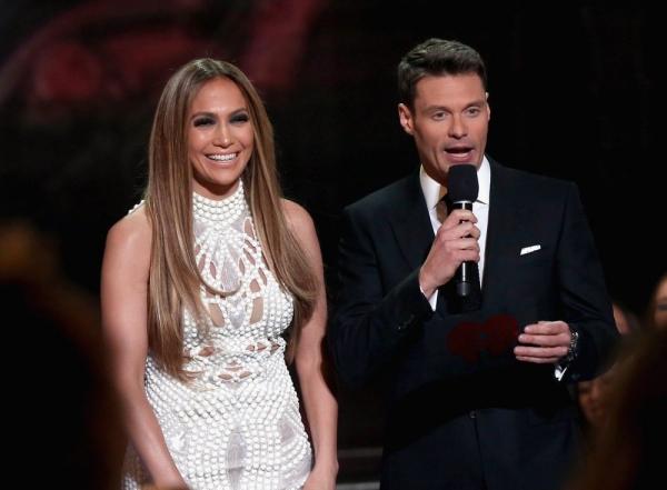 Jennifer Lopez and Ryan Seacrest