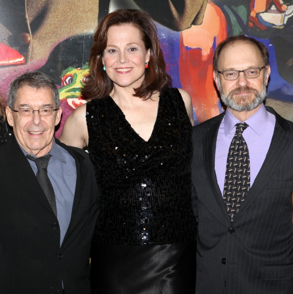 Nicholas Martin, Sigourney Weaver & David Hyde Pierce Photo