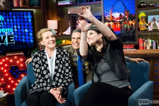 Julie Andrews, Andy Cohen, Idina Menzel