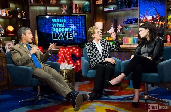 Andy Cohen, Julie Andrews, Idina Menzel