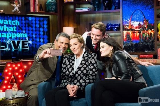 Andy Cohen, Julie Andrews, Idina Menzel