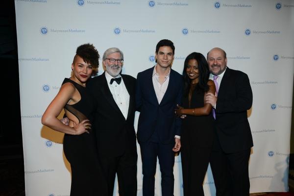 Emmy Raver-Lampman, President Judson Shaver, Jason Gotay, Adrienne Warren and Frank Wildhorn