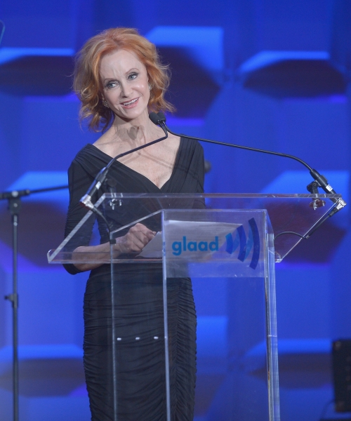 NEW YORK, NY - MAY 03:  Swoosie Kurtz speaks at the 25th Annual GLAAD Media Awards on May 3, 2014 in New York City.  (Photo by Stephen Lovekin/Getty Images for GLAAD)