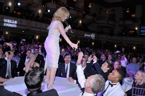 NEW YORK, NY - MAY 03:  Kylie Minogue performs at the 25th Annual GLAAD Media Awards on May 3, 2014 in New York City.  (Photo by Stephen Lovekin/Getty Images for GLAAD)