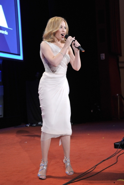 NEW YORK, NY - MAY 03: Kylie Minogue attends the 25th Annual GLAAD Media Awards on Ma Photo