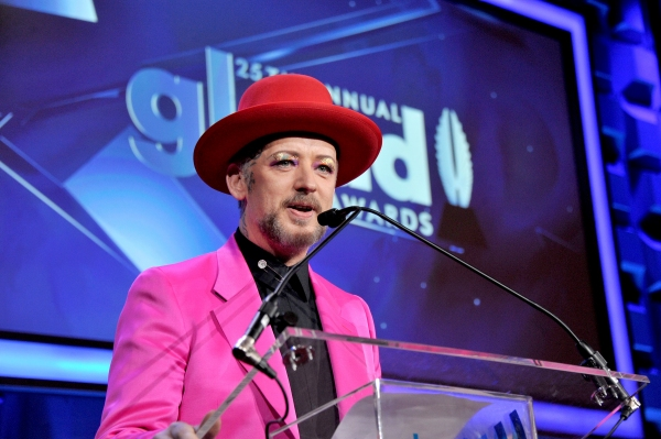 NEW YORK, NY - MAY 03:  Boy George speaks at the 25th Annual GLAAD Media Awards on May 3, 2014 in New York City.  (Photo by Stephen Lovekin/Getty Images for GLAAD)