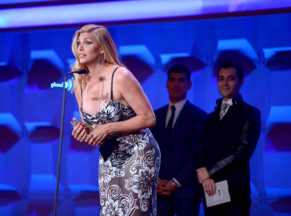 NEW YORK, NY - MAY 03:  Candis Cayne speaks at the 25th Annual GLAAD Media Awards on May 3, 2014 in New York City.  (Photo by Stephen Lovekin/Getty Images for GLAAD)