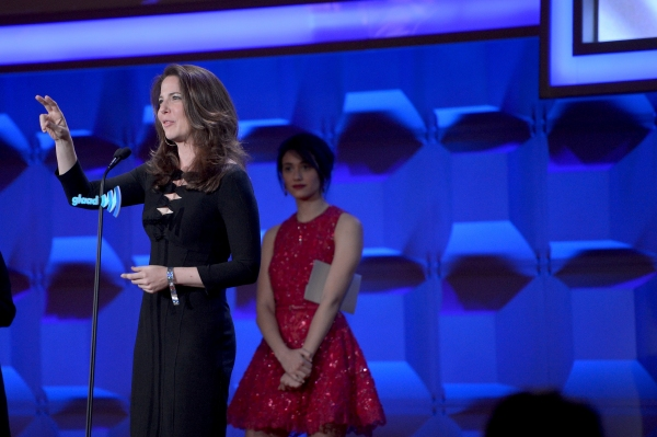 NEW YORK, NY - MAY 03: Robin Weigert and Emmy Rossum attend the 25th Annual GLAAD Media Awards on May 3, 2014 in New York City.  (Photo by Stephen Lovekin/Getty Images for GLAAD)