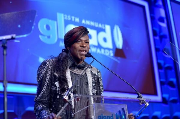 NEW YORK, NY - MAY 03:  Big Freedia speaks at the 25th Annual GLAAD Media Awards on M Photo