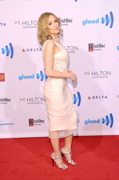 NEW YORK, NY - MAY 03:  Singer Kylie Minogue attends the 25th Annual GLAAD Media Awards on May 3, 2014 in New York City.  (Photo by Stephen Lovekin/Getty Images for GLAAD)