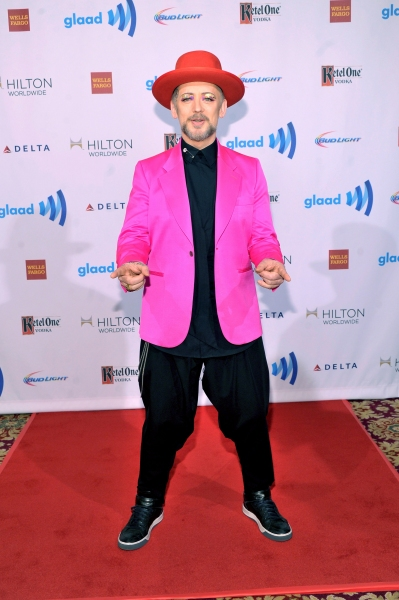 NEW YORK, NY - MAY 03:  Boy George attends the 25th Annual GLAAD Media Awards on May 3, 2014 in New York City.  (Photo by Stephen Lovekin/Getty Images for GLAAD)