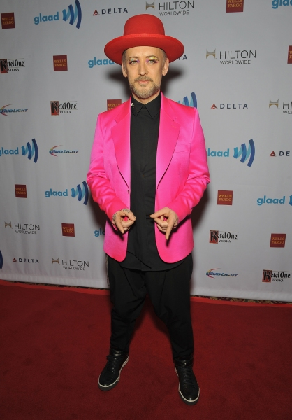 NEW YORK, NY - MAY 03:  Boy George attends the 25th Annual GLAAD Media Awards In New York on May 3, 2014 in New York City.  (Photo by D Dipasupil/Getty Images for GLAAD)