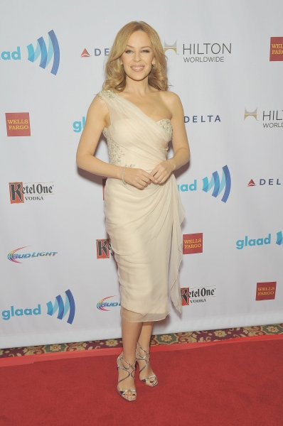 NEW YORK, NY - MAY 03:  Kylie Minogue attends the 25th Annual GLAAD Media Awards In New York on May 3, 2014 in New York City.  (Photo by D Dipasupil/Getty Images for GLAAD)