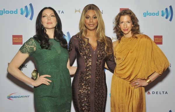 NEW YORK, NY - MAY 03:  (L-R) Laura Prepon, Laverne Cox and Alysia Reiner attend the  Photo
