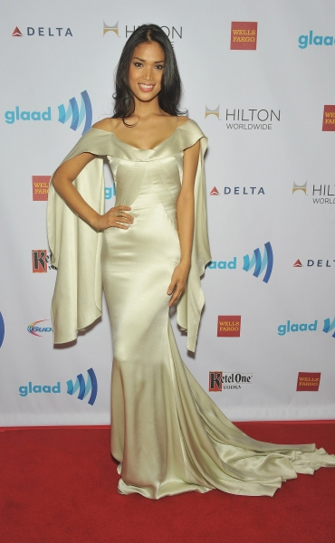NEW YORK, NY - MAY 03:  Geena Rocero attends the 25th Annual GLAAD Media Awards In Ne Photo
