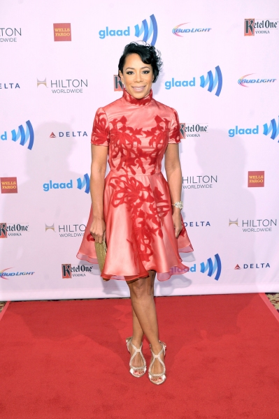 NEW YORK, NY - MAY 03:  Actress Selenis Leyva attends the 25th Annual GLAAD Media Awards on May 3, 2014 in New York City.  (Photo by Stephen Lovekin/Getty Images for GLAAD)