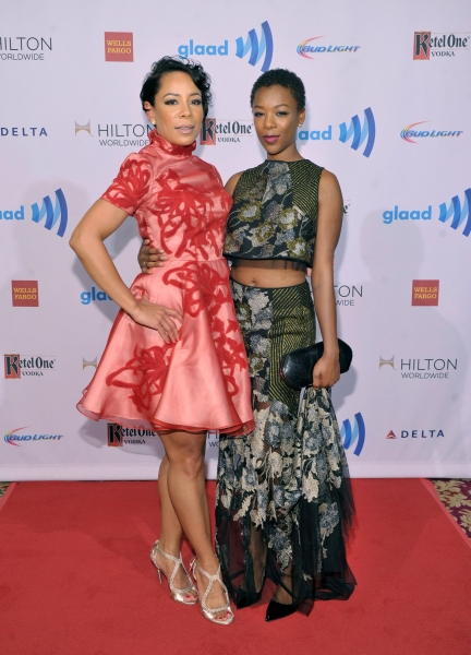 NEW YORK, NY - MAY 03:  Selenis Leyva; Samira Wiley attend the 25th Annual GLAAD Media Awards on May 3, 2014 in New York City.  (Photo by Stephen Lovekin/Getty Images for GLAAD)