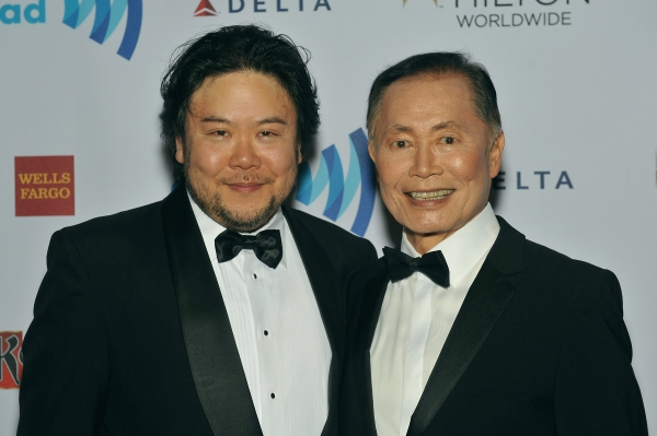 NEW YORK, NY - MAY 03:  Stafford Arima and George Takei attend the 25th Annual GLAAD Media Awards In New York on May 3, 2014 in New York City.  (Photo by D Dipasupil/Getty Images for GLAAD)