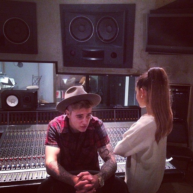 Ariana Grande Set To Duet With Justin Bieber On New Album & First Look At Both In The Studio