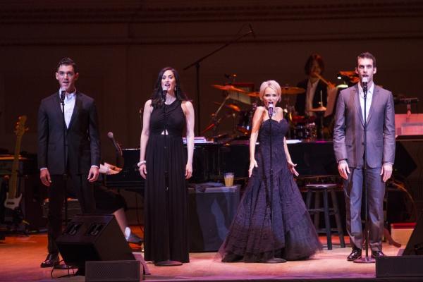 Constantine Germanacos, Jennifer Diamond, Kristin Chenoweth and Johnny Stellard