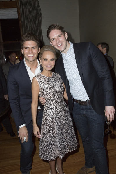 Chris DiLella, Kristin Chenoweth and Frank DiLella