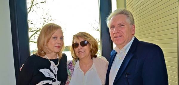Dr. Barbara Kushner, Diana Aceti and Paul Kushner at the VIP Waterfront Cocktail Party
