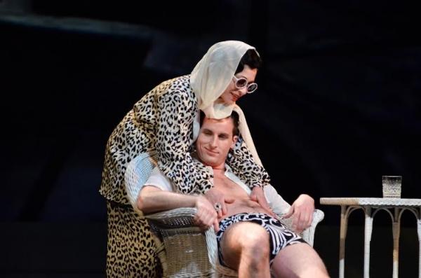 Ann Crumb (Norma Desmond) and Sean Thompson (Joe)