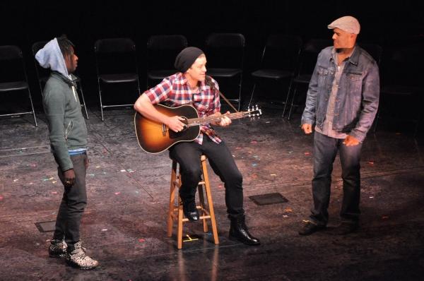 Saul Williams, Ben Johnson and Christopher Jackson Photo