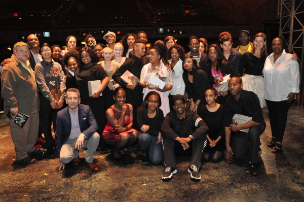 Denzel Washington, Saul Williams Ben Thompson, Kenny Leon Hilda Wills, Patty Ornst the judges-Narda E. Alcorn, David Cromer, Stephen McKinley Henderson, Pauletta Washington and James A Williams  with all the finalists and semi finalists Alexander Albritto